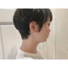 ショートボブ 簡単ヘアアレンジ ショート モード ヘアスタイルや髪型の写真・画像