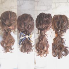 ポニーテール ゆるふわ ショート ロング ヘアスタイルや髪型の写真・画像