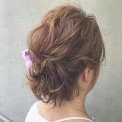 ショート ナチュラル 結婚式 ショートアレンジ ヘアスタイルや髪型の写真・画像