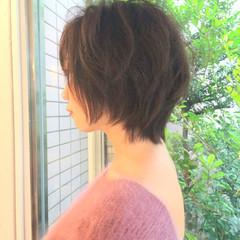 ショート 大人かわいい ナチュラル ふわふわ ヘアスタイルや髪型の写真・画像