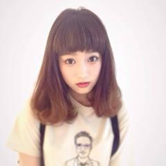 ミディアム ガーリー ストリート 大人かわいい ヘアスタイルや髪型の写真・画像