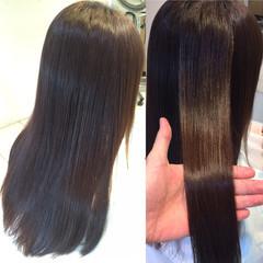 ストレート ロング ナチュラル 縮毛矯正 ヘアスタイルや髪型の写真・画像