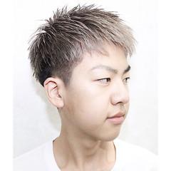 ショート ボーイッシュ 外国人風 束感 ヘアスタイルや髪型の写真・画像