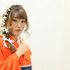 ゆるふわ ロング 成人式 ヘアアレンジ ヘアスタイルや髪型の写真・画像