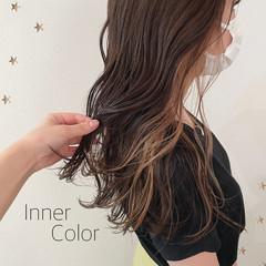 ロング ストリート インナーカラー ヘアスタイルや髪型の写真・画像