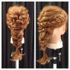 結婚式 ナチュラル ヘアアレンジ ロング ヘアスタイルや髪型の写真・画像