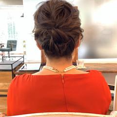 結婚式 フェミニン ボブ シニヨン ヘアスタイルや髪型の写真・画像