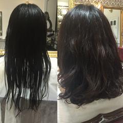 ピュア パーマ ワイドバング コンサバ ヘアスタイルや髪型の写真・画像
