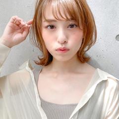 ミディアム 大人可愛い ナチュラル レイヤースタイル ヘアスタイルや髪型の写真・画像