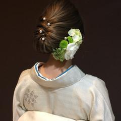 成人式 大人女子 セミロング 謝恩会 ヘアスタイルや髪型の写真・画像
