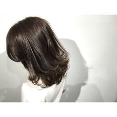 ストリート アッシュ 暗髪 ミディアム ヘアスタイルや髪型の写真・画像