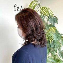 大人可愛い ブランジュ エレガント セミロング ヘアスタイルや髪型の写真・画像