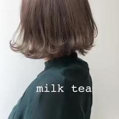 ショートボブ ナチュラル インナーカラー ショートヘア ヘアスタイルや髪型の写真・画像