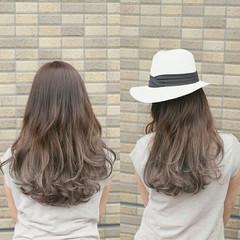 ロング アッシュ グラデーションカラー 渋谷系 ヘアスタイルや髪型の写真・画像