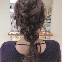ロング 編み込み 結婚式 ヘアアレンジ ヘアスタイルや髪型の写真・画像