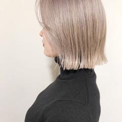 ボブ ブロンドカラー ハイトーンカラー 韓国ヘア ヘアスタイルや髪型の写真・画像
