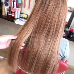 ロング エクステ ピンク 韓国ヘア ヘアスタイルや髪型の写真・画像