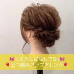 ナチュラル 簡単ヘアアレンジ ヘアアレンジ 結婚式 ヘアスタイルや髪型の写真・画像