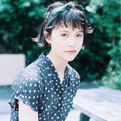 ショート 前髪あり ヘアアレンジ 夏 ヘアスタイルや髪型の写真・画像