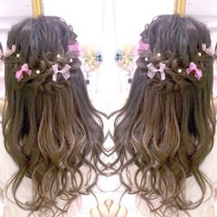 フェミニン 夏 大人かわいい ロング ヘアスタイルや髪型の写真・画像