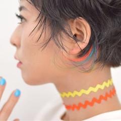 ガーリー ヘアアレンジ エクステ ショート ヘアスタイルや髪型の写真・画像