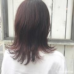 ミディアム ヘアアレンジ 涼しげ ナチュラル ヘアスタイルや髪型の写真・画像