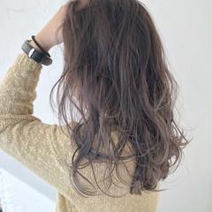 ベージュ 愛され 外国人風カラー ミディアム ヘアスタイルや髪型の写真・画像