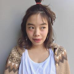 ウェーブ ヘアアレンジ ローライト ナチュラル ヘアスタイルや髪型の写真・画像