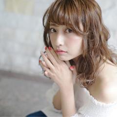 大人かわいい ブラウン ゆるふわ 外国人風 ヘアスタイルや髪型の写真・画像