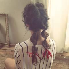 丸顔 卵型 マルサラ ヘアアレンジ ヘアスタイルや髪型の写真・画像
