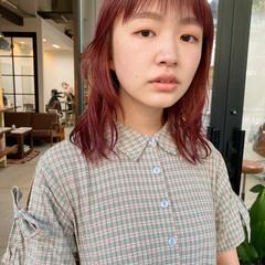 暖色 ナチュラル ピンク レイヤースタイル ヘアスタイルや髪型の写真・画像
