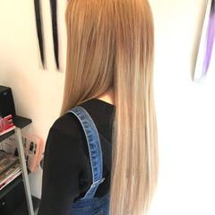 ロング ガーリー 外国人風 謝恩会 ヘアスタイルや髪型の写真・画像