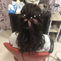 ヘアセット セルフヘアアレンジ ヘアアレンジ 簡単ヘアアレンジ ヘアスタイルや髪型の写真・画像