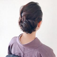 ミディアム エレガント 結婚式 ヘアアレンジ ヘアスタイルや髪型の写真・画像