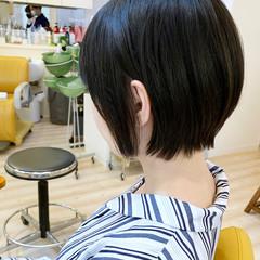 ミニボブ ショートボブ 大人ショート 小顔ショート ヘアスタイルや髪型の写真・画像
