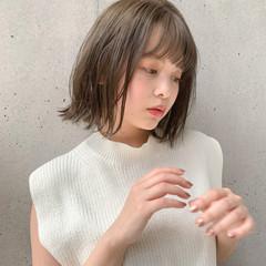 ナチュラル デジタルパーマ 鎖骨ミディアム 透明感カラー ヘアスタイルや髪型の写真・画像