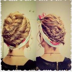 ショート ボブ ヘアアレンジ ガーリー ヘアスタイルや髪型の写真・画像