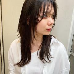 レイヤー レイヤースタイル ナチュラル セミロング ヘアスタイルや髪型の写真・画像