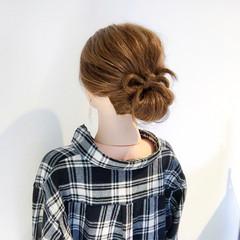 セミロング デート 簡単ヘアアレンジ 結婚式 ヘアスタイルや髪型の写真・画像