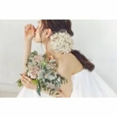 結婚式 大人かわいい ナチュラル 三つ編み ヘアスタイルや髪型の写真・画像