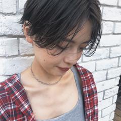 カジュアル ショート ストリート ハンサムショート ヘアスタイルや髪型の写真・画像