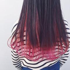 ロング グラデーションカラー 個性的 アンニュイ ヘアスタイルや髪型の写真・画像