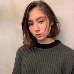小顔ヘア ボブ 透明感カラー モード ヘアスタイルや髪型の写真・画像