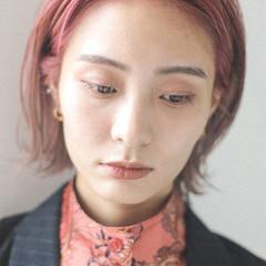 モード ハイトーン 暖色 外ハネ ヘアスタイルや髪型の写真・画像