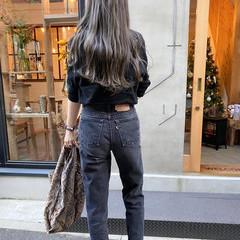 クール 透明感カラー 透明感 ロング ヘアスタイルや髪型の写真・画像