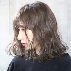 アンニュイほつれヘア 切りっぱなしボブ 外国人風 外国人風カラー ヘアスタイルや髪型の写真・画像