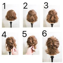 大人かわいい 簡単ヘアアレンジ ショート ボブ ヘアスタイルや髪型の写真・画像