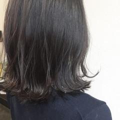 ミディアム ブルージュ 暗髪 ボブ ヘアスタイルや髪型の写真・画像