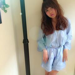 ガーリー ゆるふわ フェミニン レイヤーカット ヘアスタイルや髪型の写真・画像