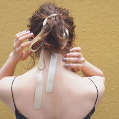 簡単 涼しげ 簡単ヘアアレンジ ポニーテール ヘアスタイルや髪型の写真・画像